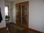French Doors with trim and rug